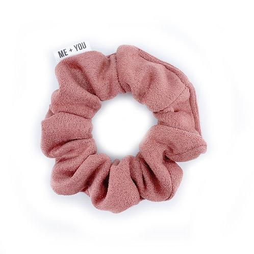Mini Scrunchie - Dusty Rose Suede