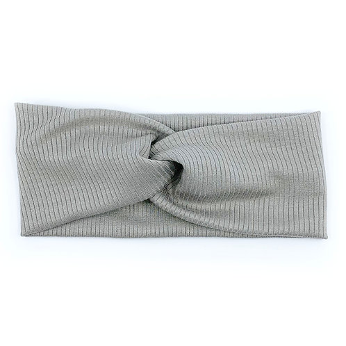 Cool Grey Twisty Headband