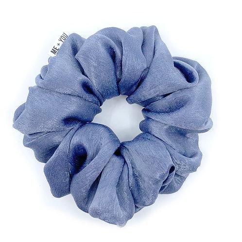 Premium Scrunchie - Satin Blue Willow