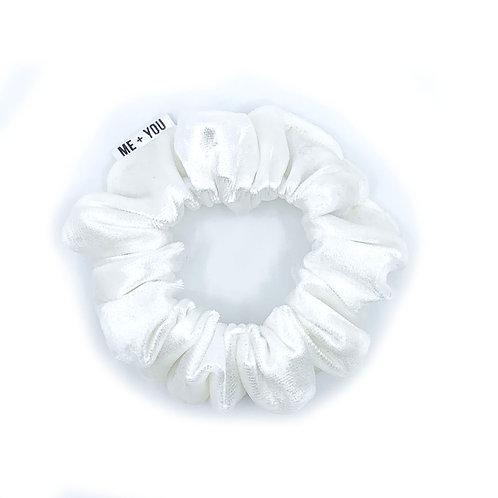 Mini Scrunchie - Butter Crushed Velvet Dove