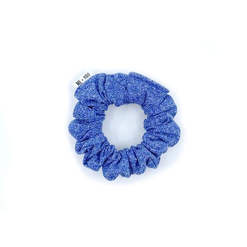 Mini Scrunchie - Heather Blue Athletic Knit (Wholesale)