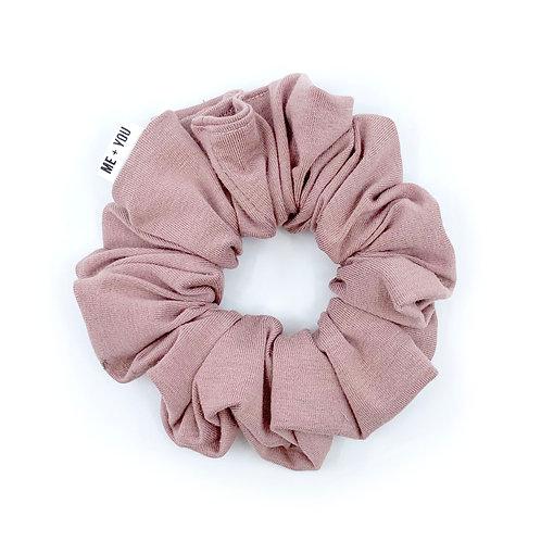 Premium Scrunchie - Rosie Mauve Modal Knit