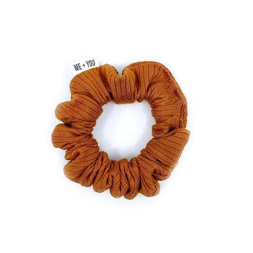 Mini Scrunchie - Knit Caramel