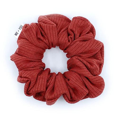 Premium Scrunchie - Knit Crimson