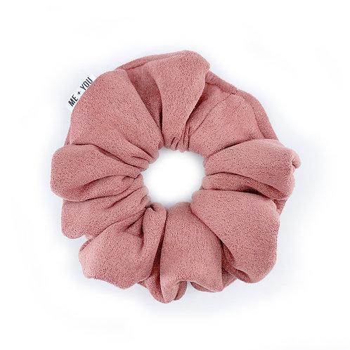 Premium Scrunchie - Dusty Rose Suede