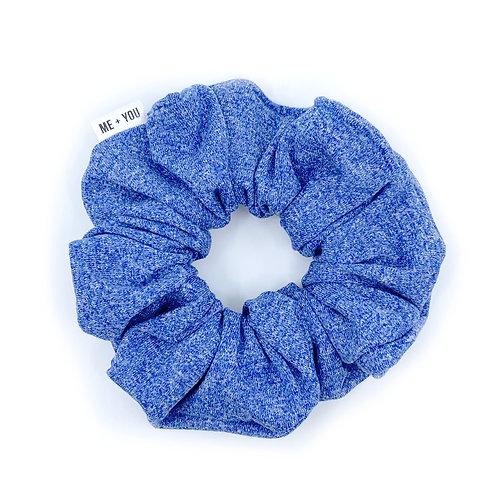 Premium Scrunchie - Heather Blue Athletic Knit