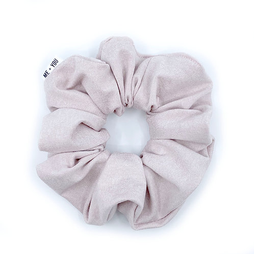 Premium Scrunchie - Heather Pink Athletic Knit