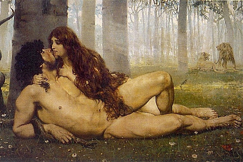 Adam & Eve With Root by Diana and Erin