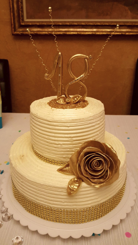 Butter cream vanilla cake