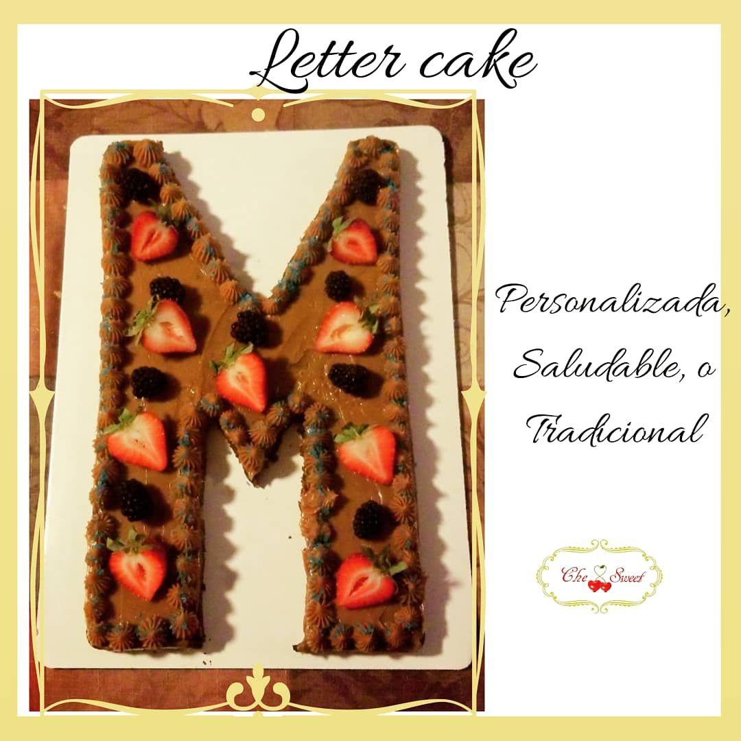 Letter M cake