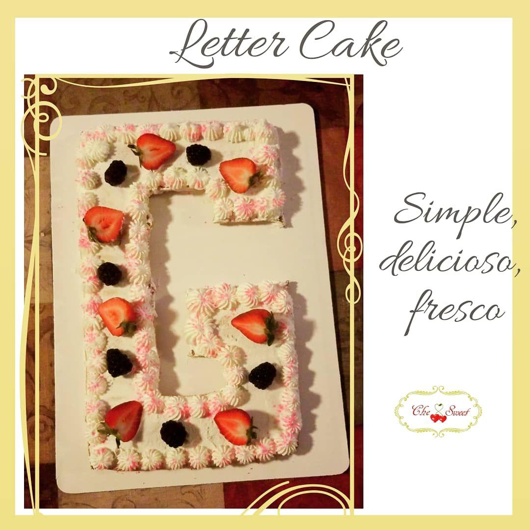 Letter G cake