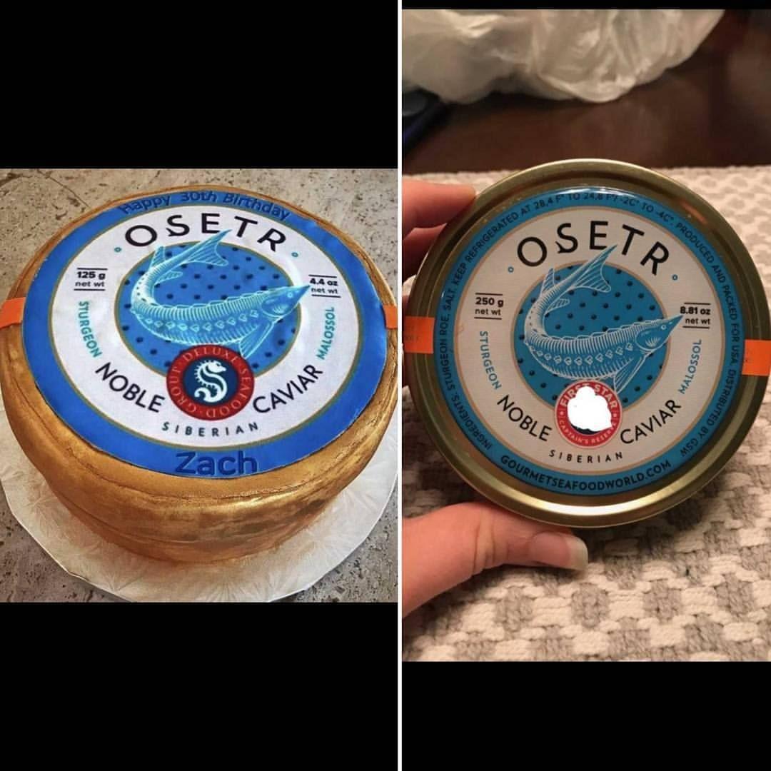 OSETR caviar company cake