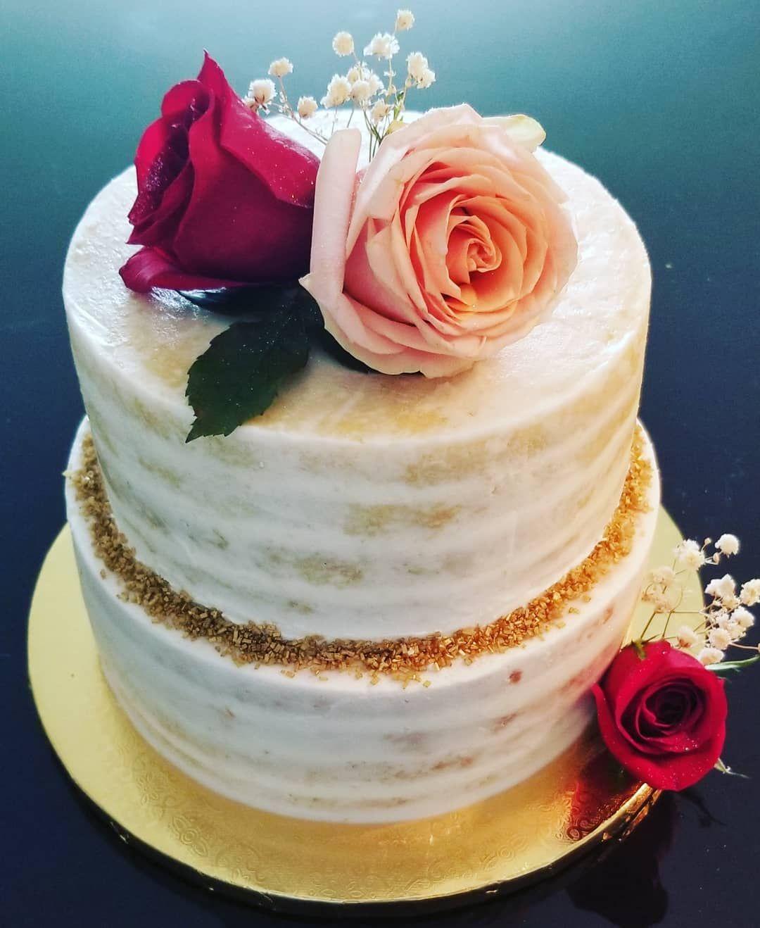 Rose Naked cake