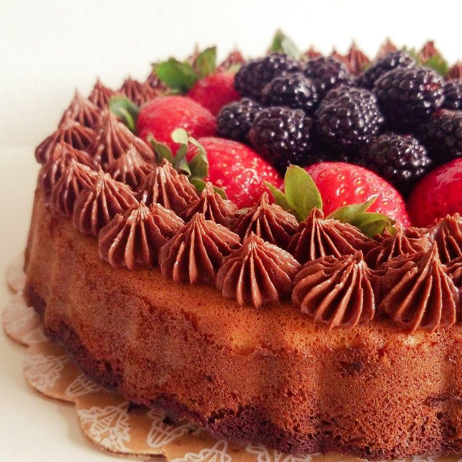 Healthy tangerin cake