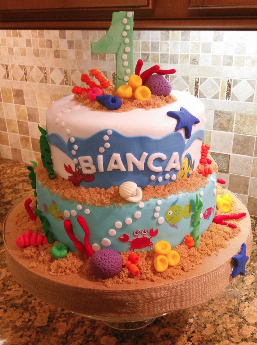 Fondant Under the sea cake