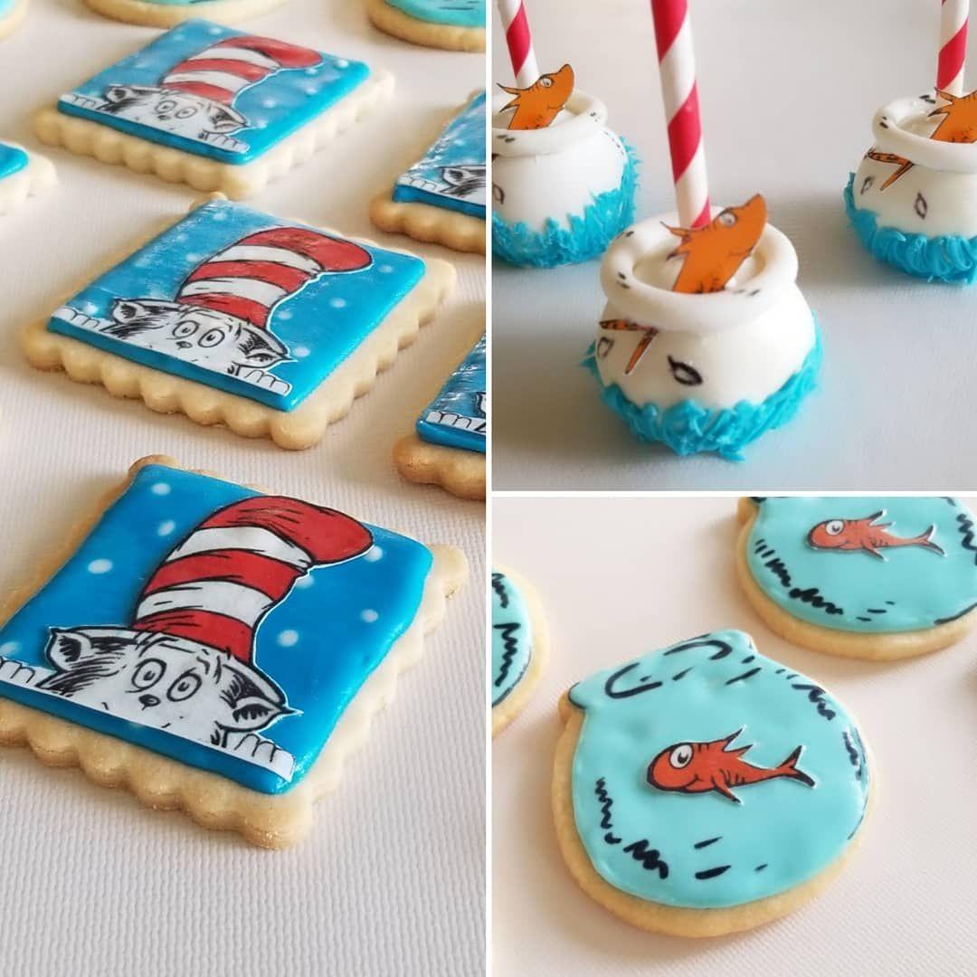 Dr. Seuss Cookies, cake pops