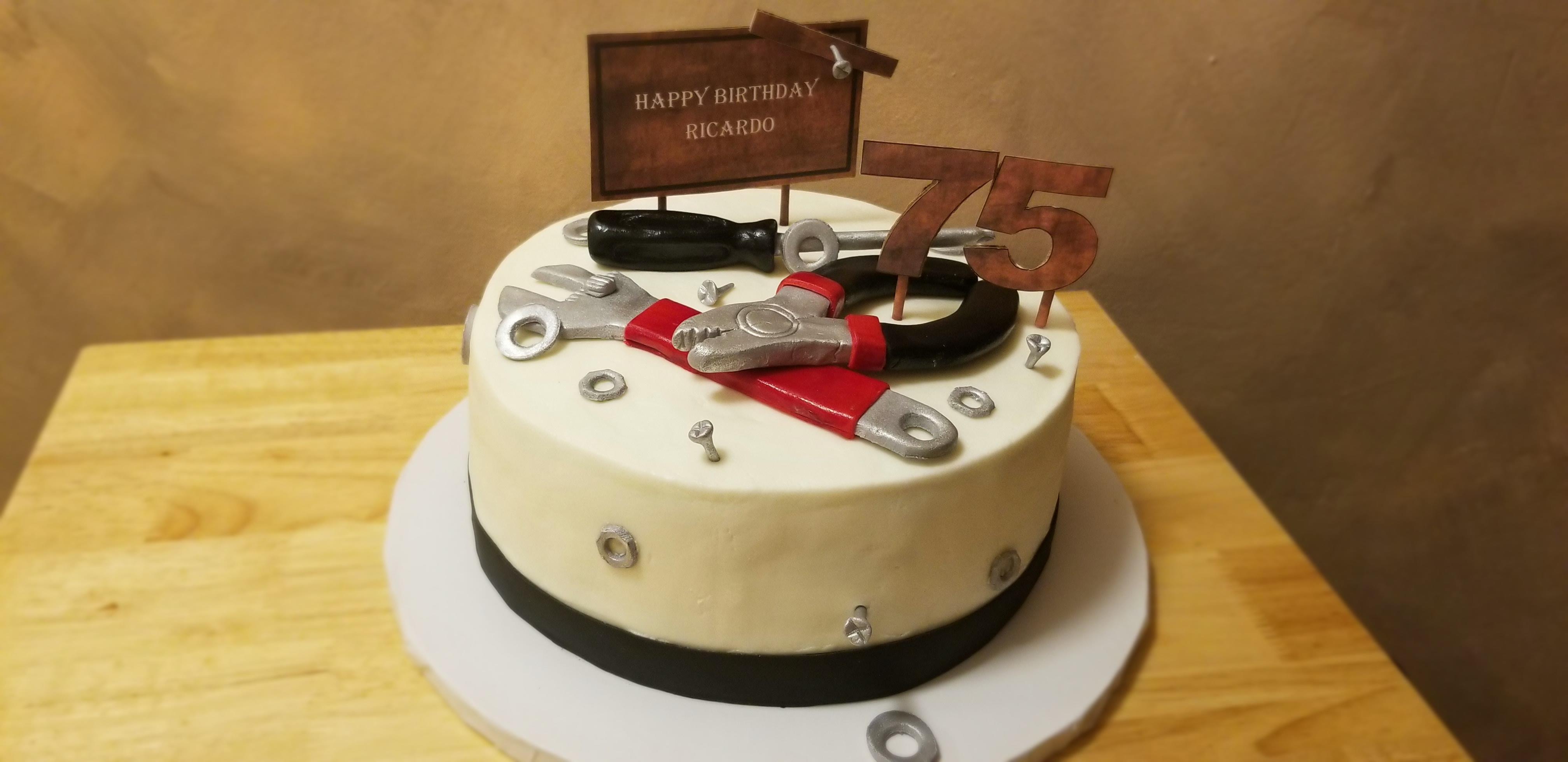 Handyman tools cake