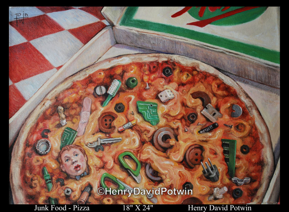 Junk Food Pizza 18X24 2010