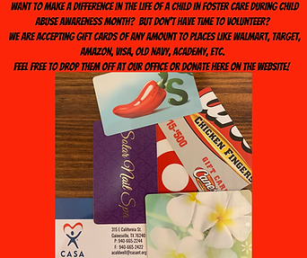 Donate Gift Cards