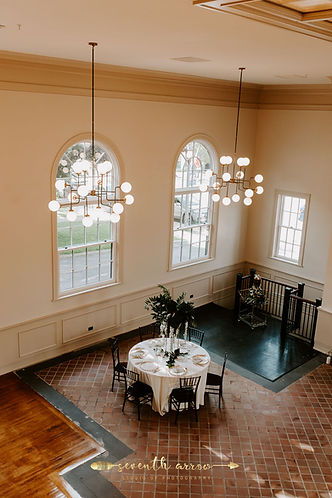 Wedding Table, Art Deco lighting, 1930 heritage building, wedding cake, The Bank's main event space