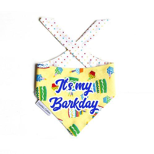 It's my Barkday birthday bandana