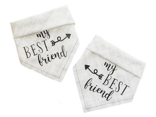 My Best Friend bandana pair