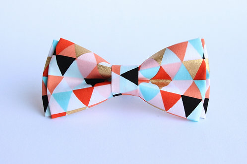 Geometric Triangle Bow Tie