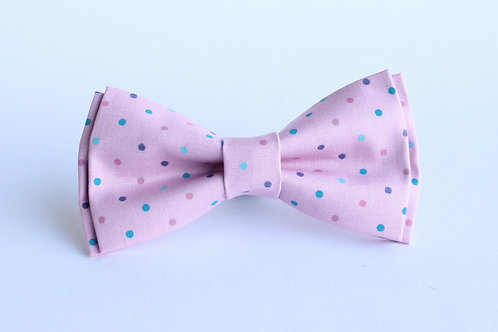Pink and Purple Polka Bow Tie