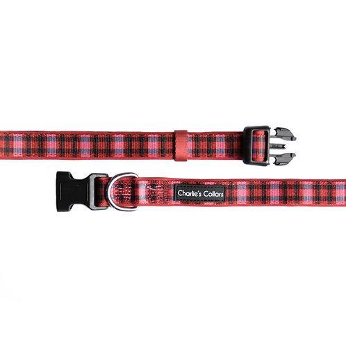 Red Plaid collar