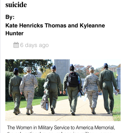 Why woman veterans are more likely than civilian to commit suicide