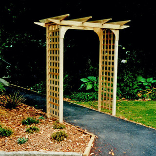 Garden Pergola on a Pathway