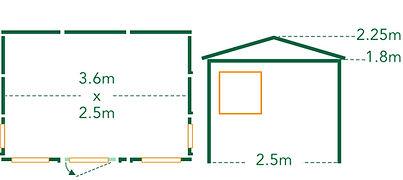 Summerhouse Rata Floor Plan
