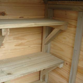 Shelving Unit in a Courtyard Cupboard