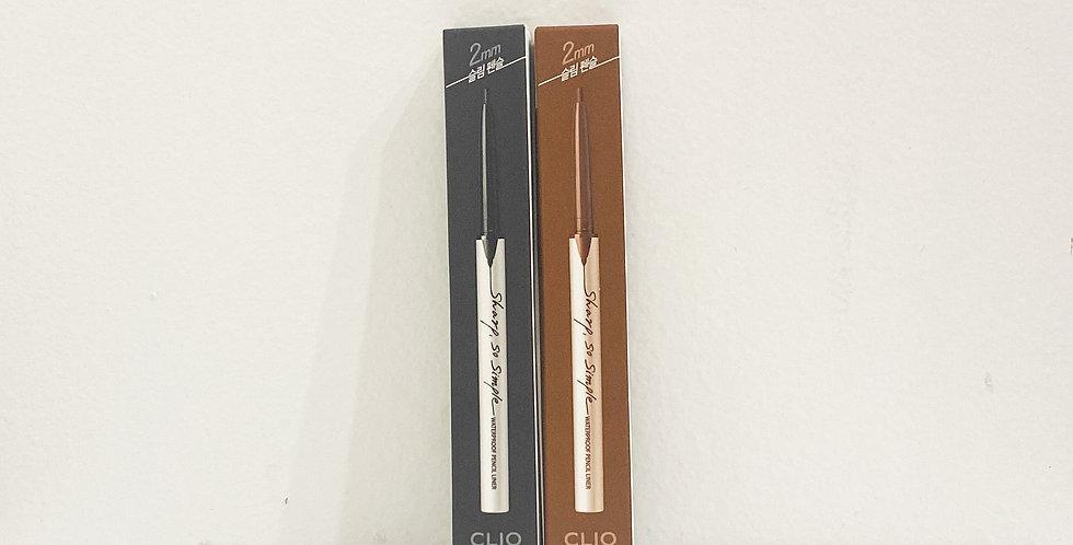 [Clio] Sharp, So Simple Waterproof Pencil Liner