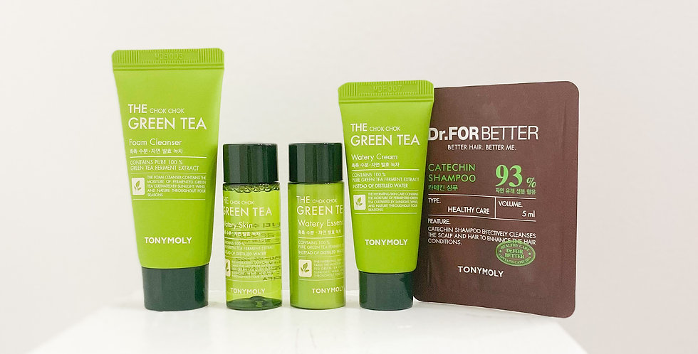 [Tonymoly] The Chok Chok Green Tea Watery Travel Kit