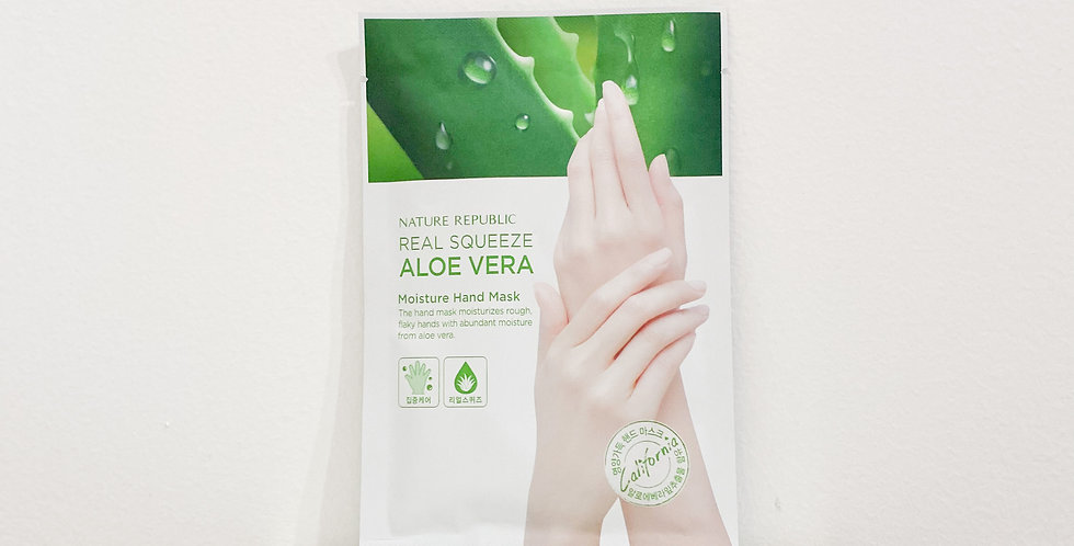 [Nature Republic] Real Squeeze Aloe Vera Moisture Hand Mask