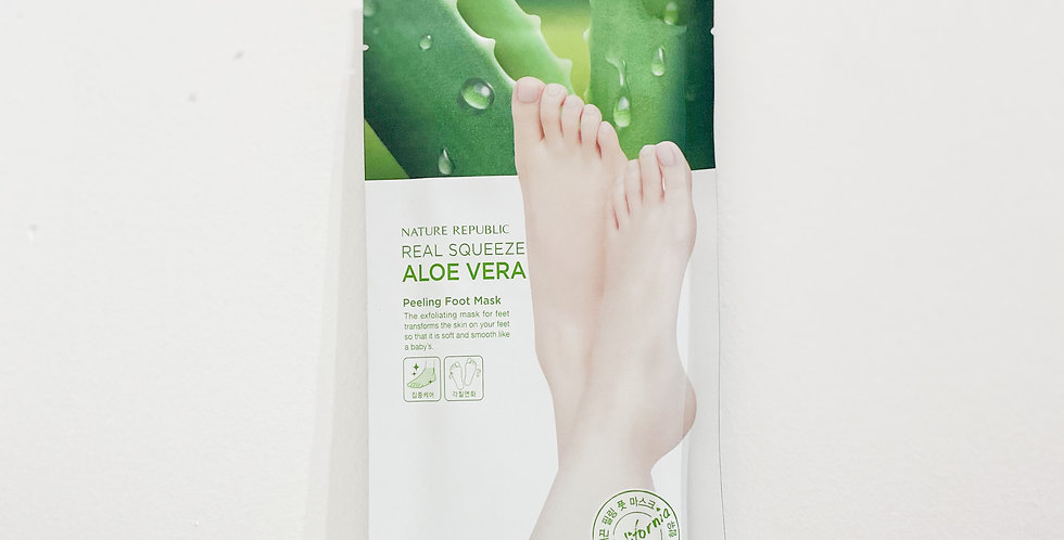 [Nature Republic]  Real Squeeze Aloe Vera Peeling Foot Mask