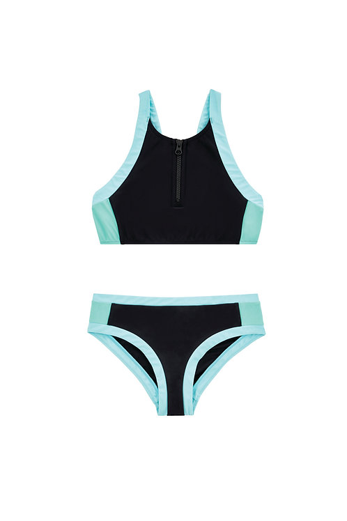 Seafolly Aztec TapestryZip Front Tankini