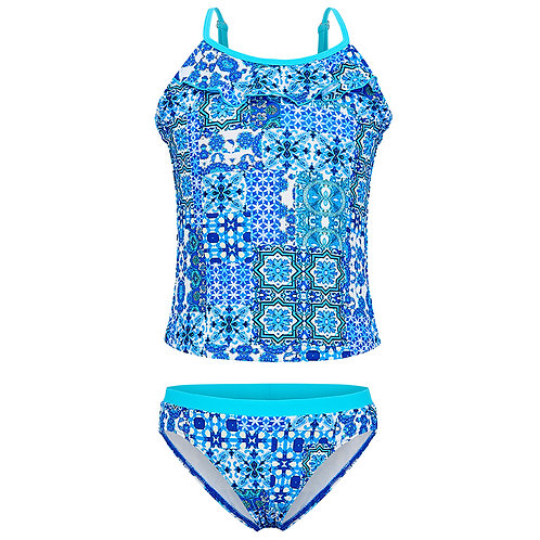 AQUABLUE MARRAKECH FRILL TANKINI SET