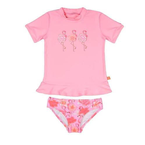 SALTY INK FLAMINGO S/S SUNVEST SET