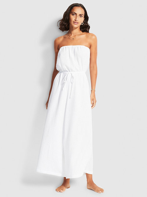SEAFOLLY DOUBLE CLOTH STRAPLESS JUMPSUIT