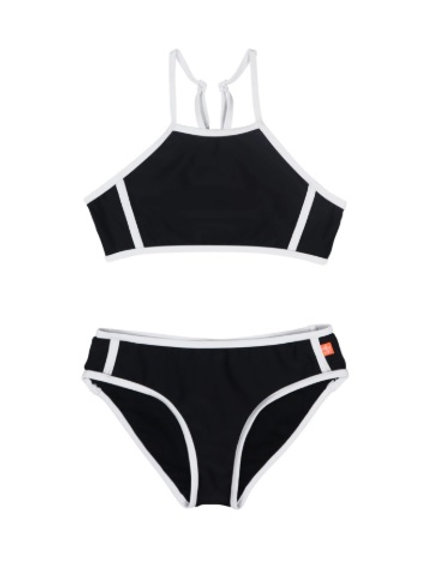 SALTY INK SUMMER CRUSH PLAIN HIGH NECK BIKINI
