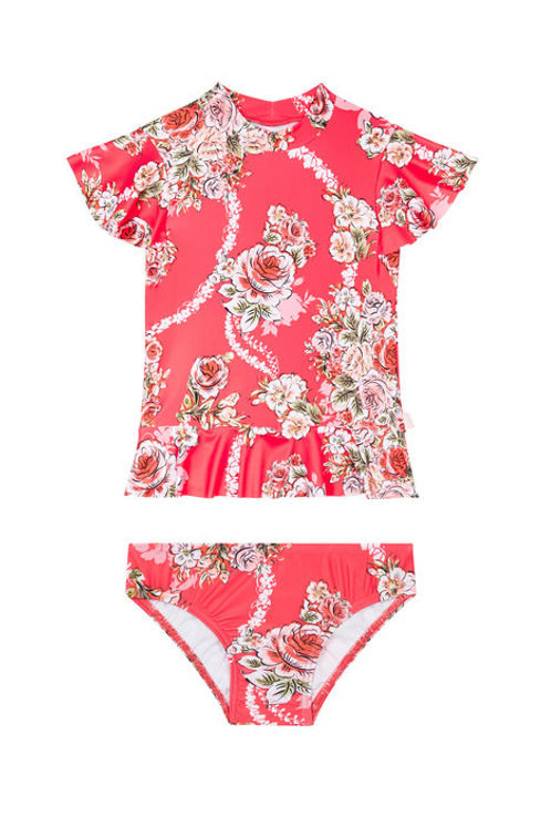 SEAFOLLY LITTLEVILLINCO S/S RASHIE SET