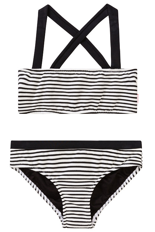 SEAFOLLY INDIAN CHINTZ STRIPE MINI TUBE BIKINI