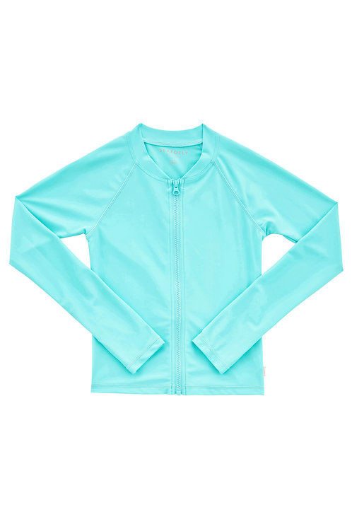 SEAFOLLY LIGHT HOUSE L/S ZIP FRONT RASHIE