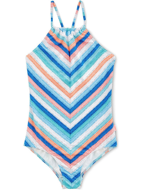 SEAFOLLY MOONDCHILD STRIPE RUCHED NECK TANK