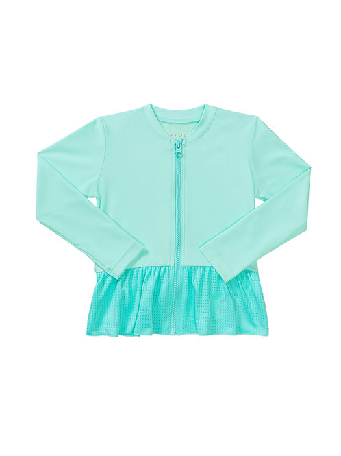 SEAFOLLY SWEET SUMMER L/S ZIP FRONT RASHIE