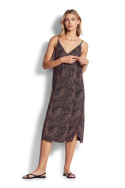 SAFARI SPOT SLIP DRESS
