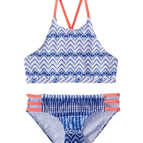 PLATYPUS INDIGO WAVES HI NECK BIKINI