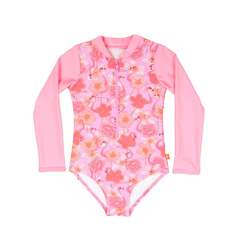 SALTY INK FLAMINGO SUNSUIT